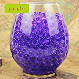 Lingstar Deco Vase Filler Water Pearl Storing Jelly Beads Wedding Home Decor Display Purple 1200beads 12pack