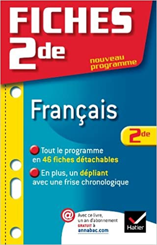 Google book pdf download Fiches Bac Français 2de en français 2218944758