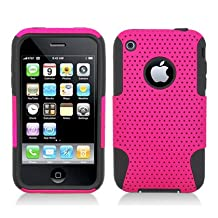 Aimo Wireless IPHONE3GSPCPA005 Hybrid Armor Cheeze Case for iPhone 3G/3GS - Retail Packaging - Black/Pink