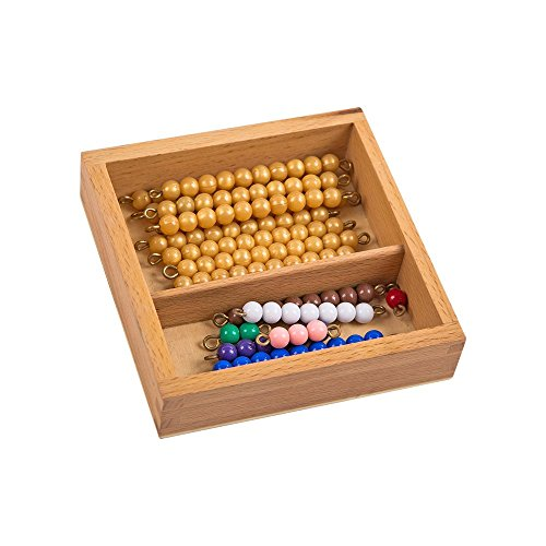 Montessori Math Materials Bead Bars for Teen Board with Box for Early Preschool Learning Toy