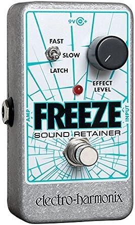 electro-harmonix Freeze Freeze Sound Retainer Pedal - Pedal de efecto compresión para guitarra, color plateado
