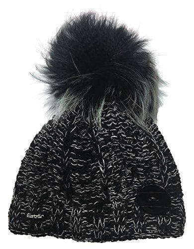 Taglia Fur Unica 80051 grigio Alina Eisbär graumele Multicolore Black mele Berretto Schwarz Nero black f15Cwx0q