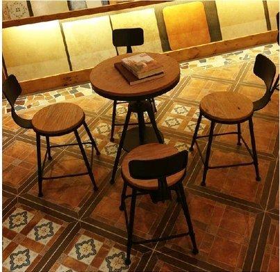 Vintage In Legno Massiccio Tavolo Da Caffè Ferro Battuto Cafe Tavoli
