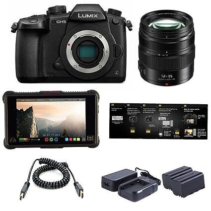 Amazon.com: Panasonic Lumix DC-GH5 Mirrorless Camera Black ...
