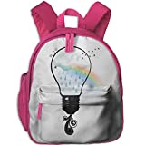 Cute-Hipster Printed Kids School Backpack Cool Children Bookbag Pink