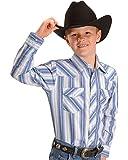 Wrangler Boys' Assorted Striped Western Shirt Stripe Small