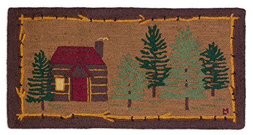 Cabin in the Woods - 2'x4' Hooked Rug from Chandler 4 Corners