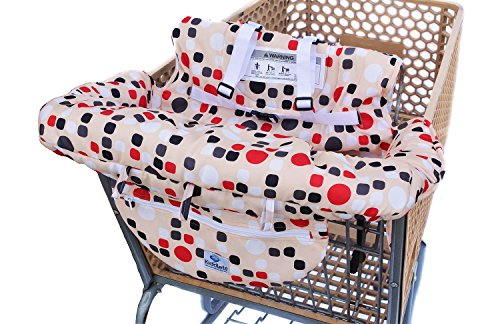 Baby High Chair Cushion (Grocery Shopping Cart Baby Seat Cover, Restaurant High Chair - Insert Cushion Holder for Boys, Girls, Infants, Toddler)