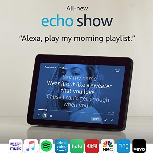 """Certified Refurbished Echo Show (2nd Gen) – Premium sound and a vibrant 10.1"""" HD screen - Charcoal"""