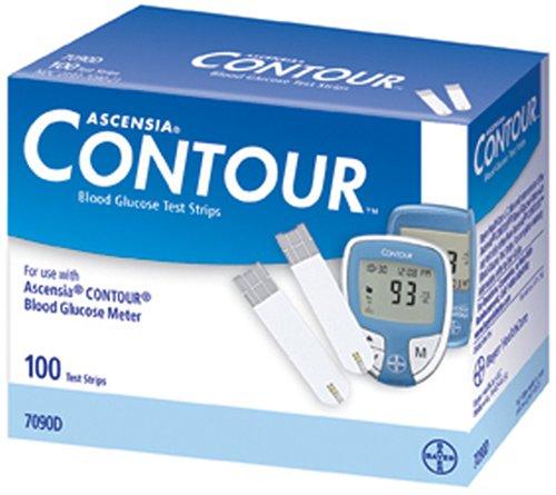 Amazon.com: Bayer Contour Blood Glucose, 100 Test Strips: Health ...