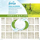 Febreze AFFB1420 High Allergen Microparticle and Odor Reduction Air Furnace Filter, 4 Pack, 14-Inch by 20-Inch