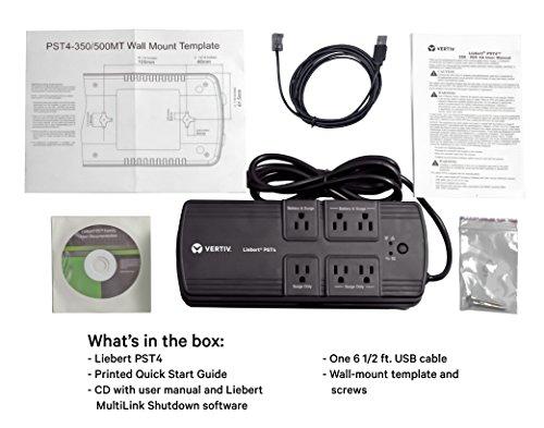 Vertiv Liebert 500VA 300W Battery Backup & Surge Protector, 6-Outlet, 3 Year Warranty, TAA Compliant (PST4-500MT120) by Liebert (Image #4)