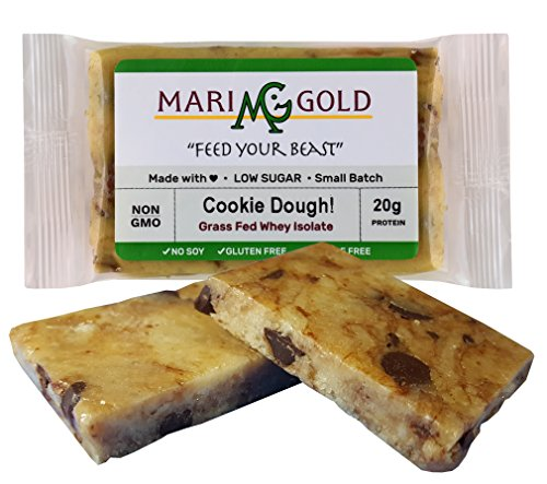MariGold GRASS FED Whey Protein Bars Sampler Pack- 21+gm Protein, Even LOWER Sugar, Non GMO, Amazing Taste - Made Fresh, Ships Fresh. Purest Ingredients (12) by MariGold Bars (Image #4)