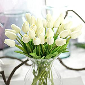 XHSP 30 pcs Real-touch Artificial Tulip Flowers Home Wedding Party Decor 2