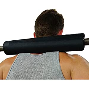All Black foam barbell neck pad cushion for women and men 2 inch olympic gym bar pads with velcro used for squats hip thrusts bench press weightlifting lunges power lifts by dark iron fitness