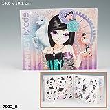 TopModel Fantasy Model Sticker Stickerbuch Stickeralbum 300 Stück Feen Elfen Blumen lila rosa