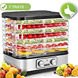 Food Dehydrator Machine, Jerky Dehydrators with 7-Tray, Knob Button