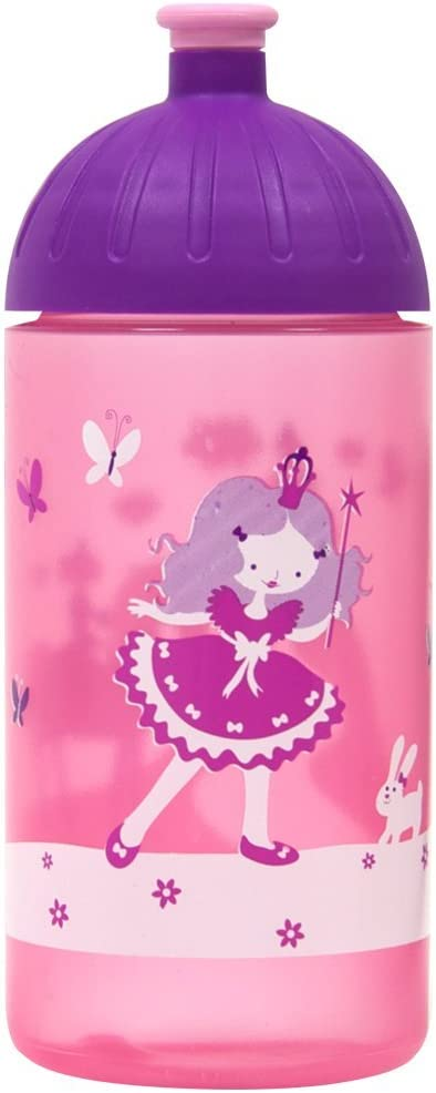 Leak-Proof Also with Sparkling Water ISYbe Original Drinking Bottle for Children and Adults travel Sports and Outdoor Dishwasher Safe Patterns Motif for School BPA-Free