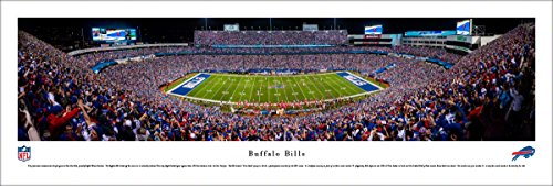 Buffalo Bills - 50 Yard - Night  - Blakeway Panoramas Unframed NFL Posters (Stadium Ralph Wilson)