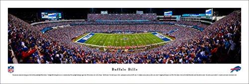 Buffalo Bills - 50 Yard - Night  - Blakeway Panoramas Unframed NFL Posters (Ralph Stadium Wilson)