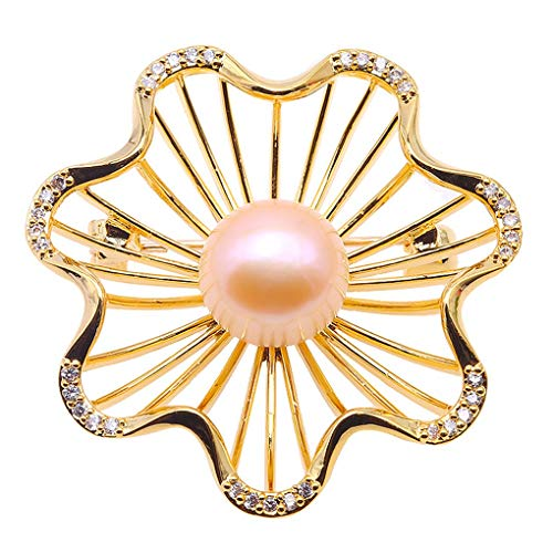 JYX Pearl Bouquet Brooch Light Pink Freshwater Cultured Pearl Brooches Pins for Women