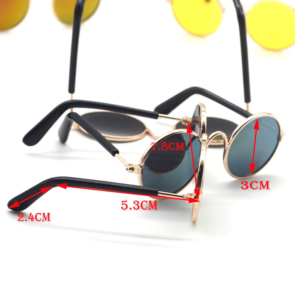 1pcs Colorful Metal Sunglasses for American Doll Mini Doll Glasses Accessories Doll Dressing Props Pink