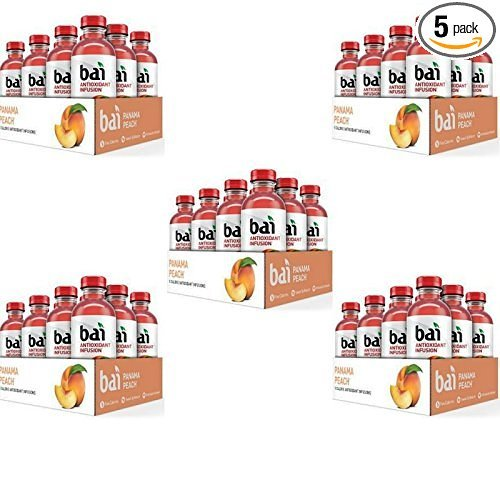 Bai Panama Peach, 18 Oz, 60 Count by Bai