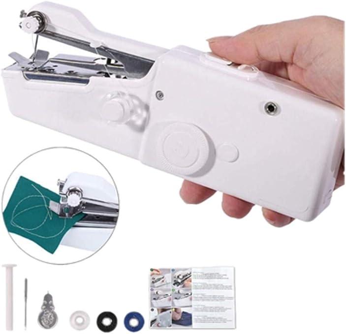 HMwish maquina de coser, Mini Máquina de Coser Portátil de mano ...