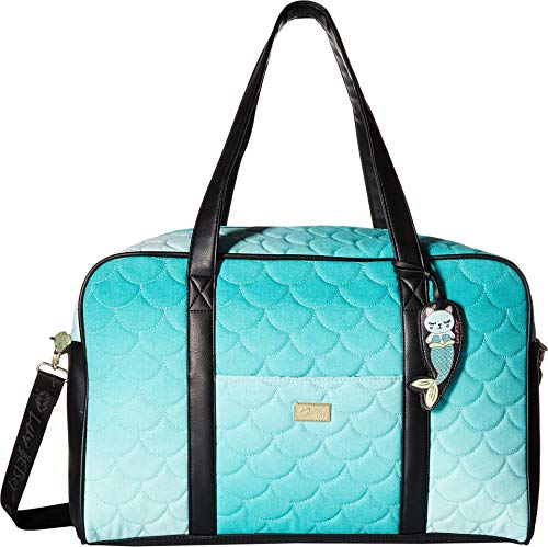 Luv Betsey Women's Cruzin Cotton Weekender w/A Luggage Pass Through On The Back Seafoam One Size