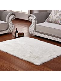 wendana faux sheepskin area rug silky shag rug white fluffy carpet rugs floor area rugs decorative