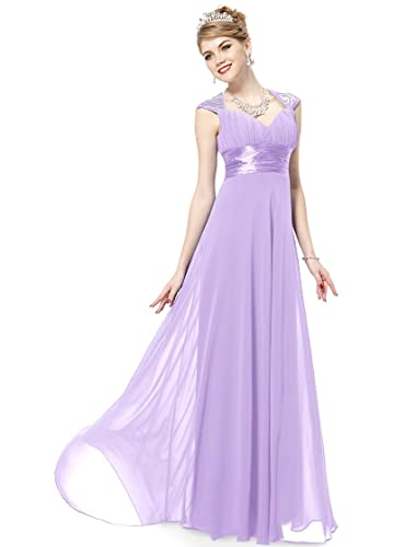 Ever Pretty Chiffon Sexy V-neck Ruched Empire Line Evening Dress 09672