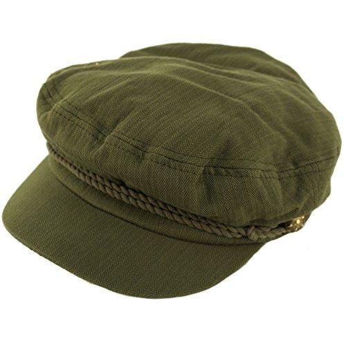Epoch Men's Summer Cotton Greek Fisherman Sailor Fiddler Driver Hat Flat Cap Olive by Epoch