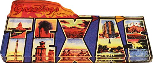 Texas - Greeting from Texas Postcard Acrylic Magnet