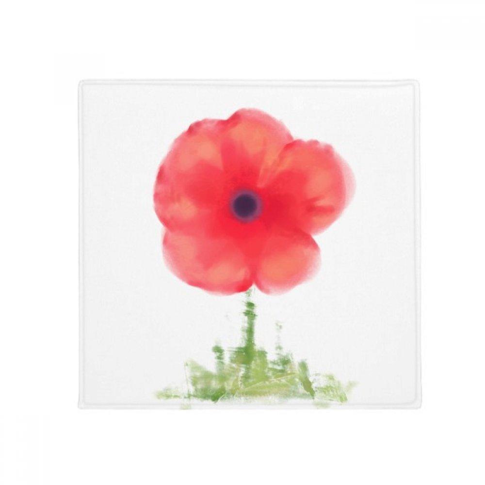 DIYthinker Red Flower Corn Poppy Art Watercolour Anti-Slip Floor Pet Mat Square Home Kitchen Door 80Cm Gift