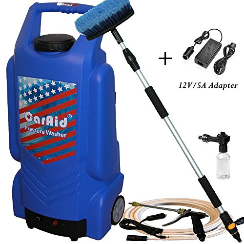 Caraid 9906 12v Portable Pressure Washer with Large Tank Plus AC Adapter