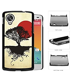 Asian Sunrise Nature And Earth Silhouette Hard Plastic Snap On Cell Phone Case LG Nexus 5