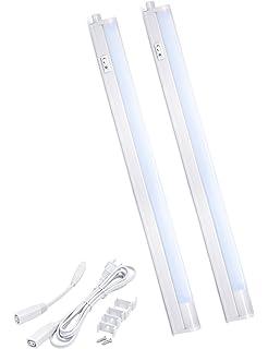 Ledenglux dimmable led under cabinet lighting usb memory function led concepts under cabinet closet linkable led t5 light bar ultra slim cool aloadofball Images