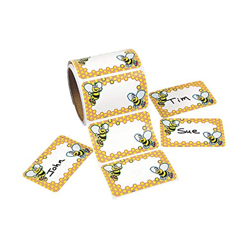 Bumblebee Name Tags/Labels (100 Pack) 3 1/2