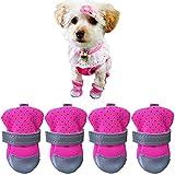 Ulandago Dog Boots For Small Dog Breathable Neoprene Nonslip Paw Protectors For Hardwood Floor
