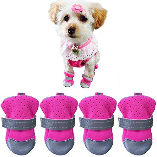 Ulandago Dog Boots For Small Dog Breathable Neoprene Nonslip Paw Protectors For Hardwood Floor by Ulandago