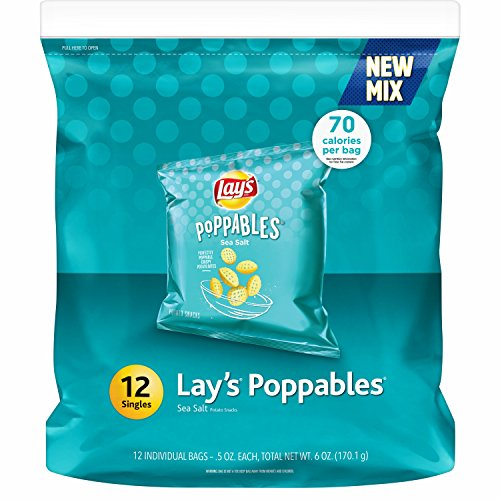 Lay's Poppables Sea Salt Potato Snacks, 12 -