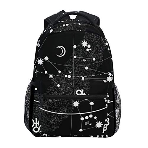 Zodiac Diaper Cover - BETTKEN Zodiac Signs Constellations Backpack Travel School College Book Bag Shoulder Bag Camping Hiking Laptop Daypack