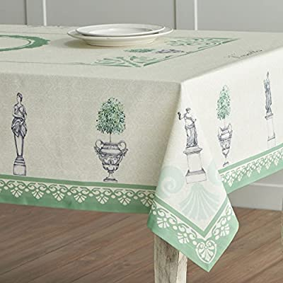 Maison d' Hermine Jardin du Roy 100% Cotton Tablecloth 54 Inch by 54 Inch - Designed in France 100% Cotton and machine washable Package includes - 1 Tablecloth - tablecloths, kitchen-dining-room-table-linens, kitchen-dining-room - 51kdfDbRfoL. SS400  -