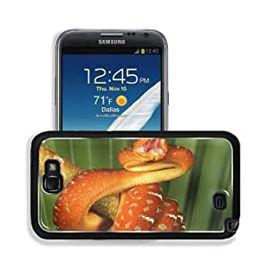 Animals Snakes Reptiles Red Pattern Samsung Galaxy Note 2 Snap Cover Premium Aluminium Design Back Plate Case Customized Made to Order Support Ready 6 inch (152mm) x 3 2/8 inch (82mm) x 4/8 inch (13mm) MSD Galaxy Note 2 Professional Metal Cases Touch Acce