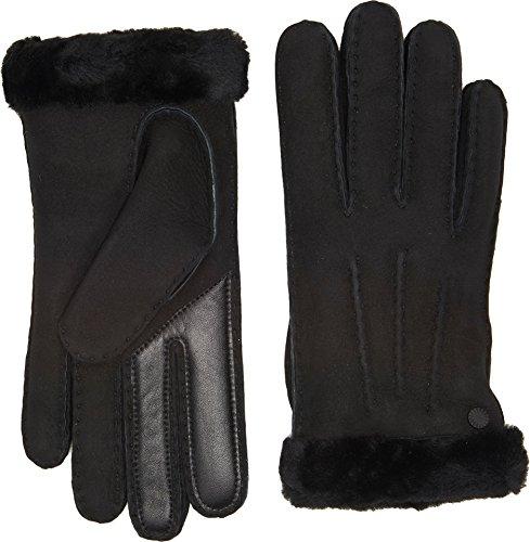 UGG Women's Carter Waterproof Sheepskin Tech Gloves Black SM