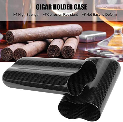Zigarrenetui Humidor f/ür Zigarren aus Carbonfaser 2 Reisetasche Sigaro f/ür Schl/äuche