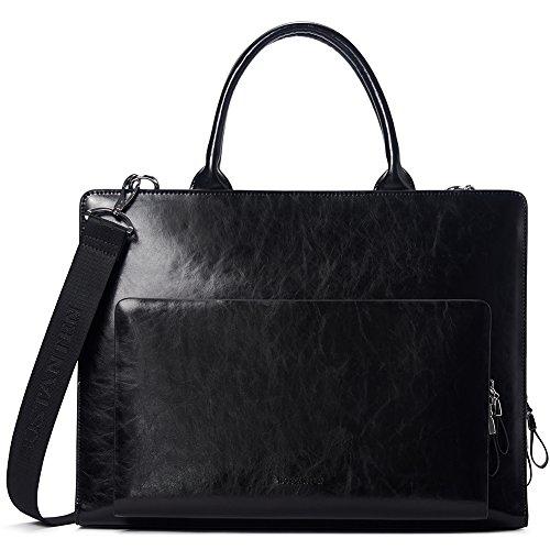 BOSTANTEN Leather Briefcase Shoulder Laptop Business Vintage Slim Bags for Men & Women - Italian Leather Ladies Briefcase