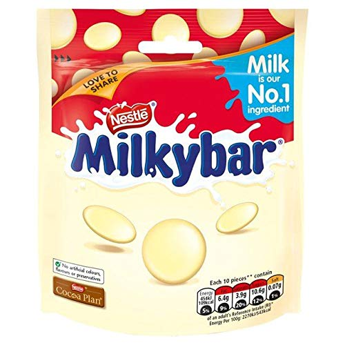 Milkybar Giant Buttons White Chocolate Sharing Bag - 103g (0.22 lbs)