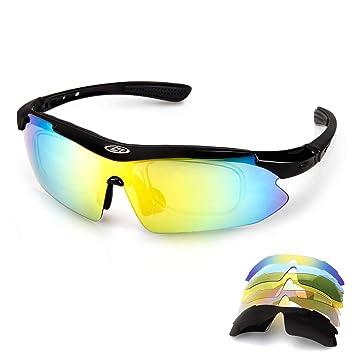 Aolead Gafas De Sol Polarizadas Gafas Ciclismo con 5 Lentes ...