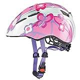 Uvex, Casco da ciclismo Bambina, motivo: Farfalle, Rosa...